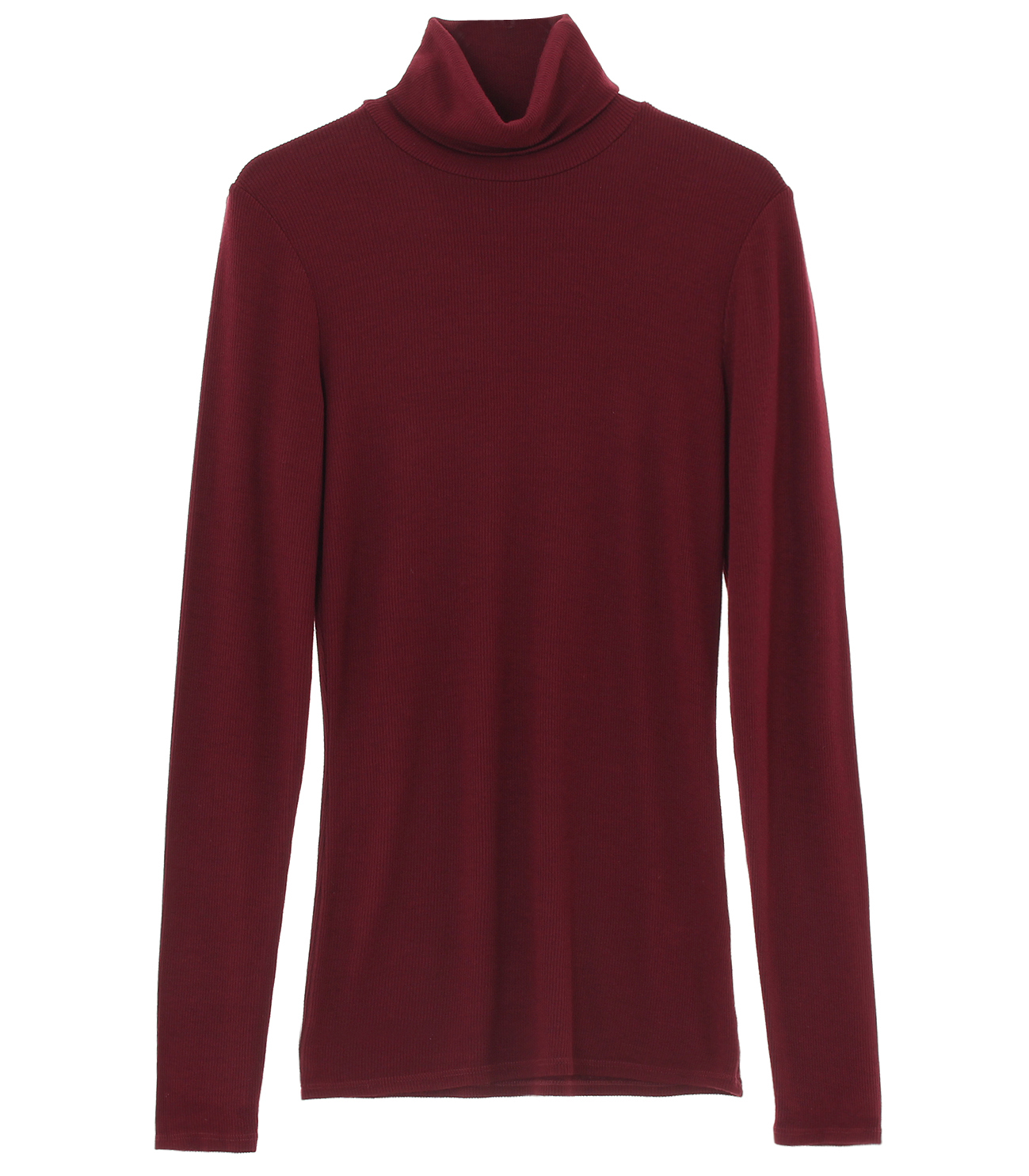2×1 viscose l/s turtleneck 詳細画像 garnet 1