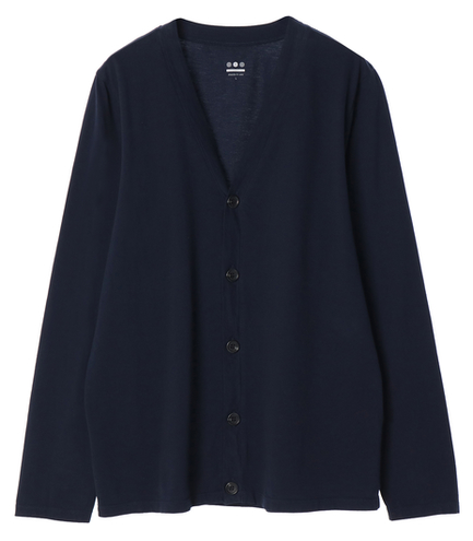 sueded jersey l/s cardigan