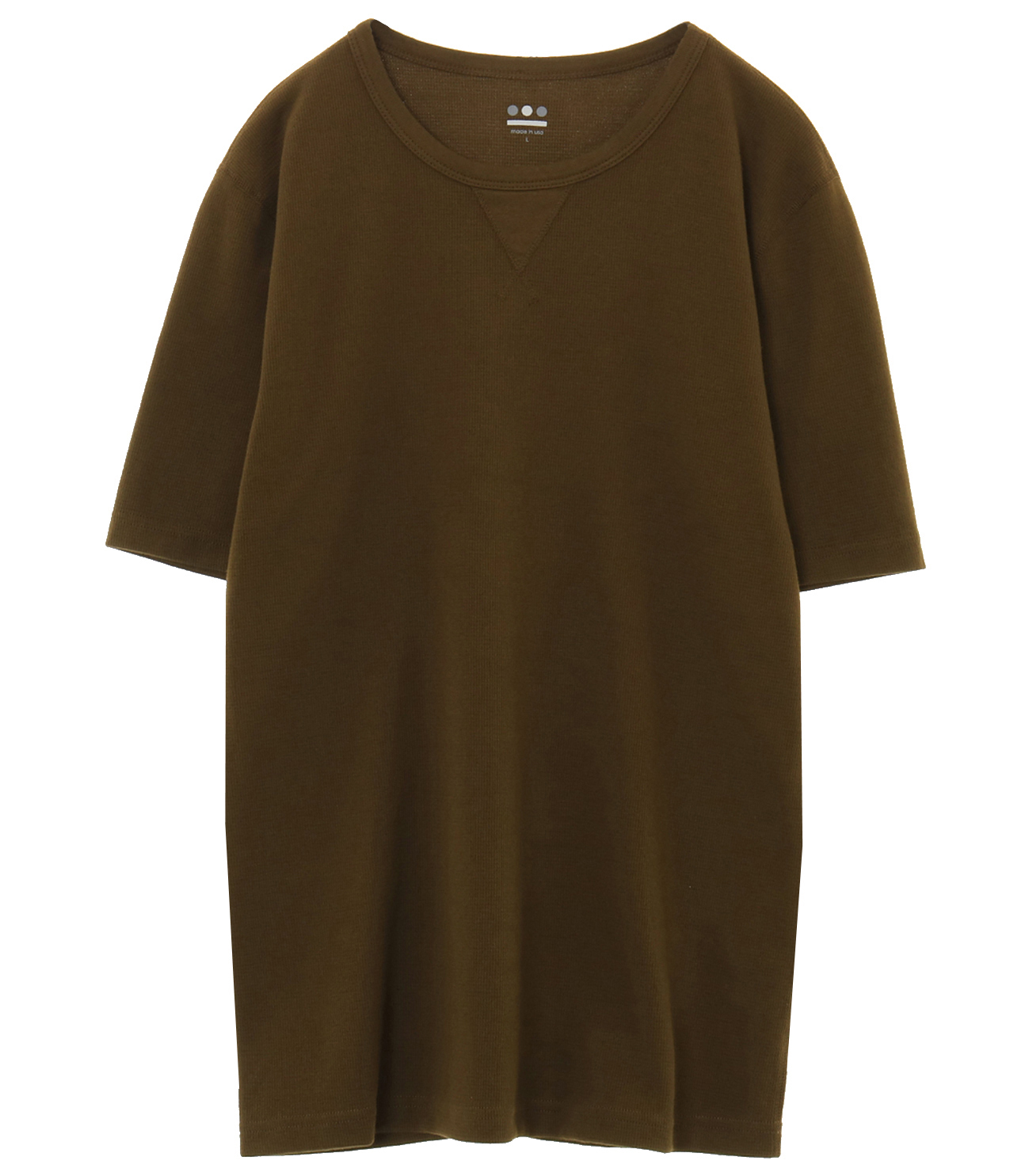 brushed thermal crew 詳細画像 olive brunch 1