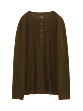 brushed thermal l/s henley 詳細画像