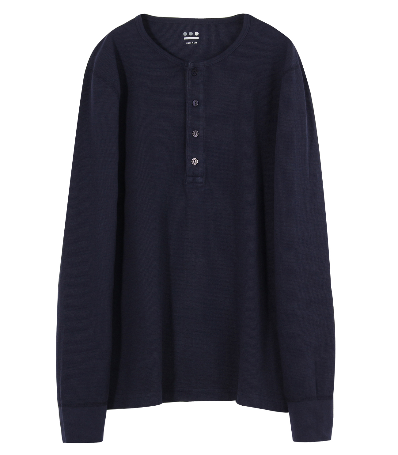 brushed thermal l/s henley 詳細画像 night iris 1
