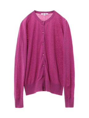 cotton melange cardigan 詳細画像