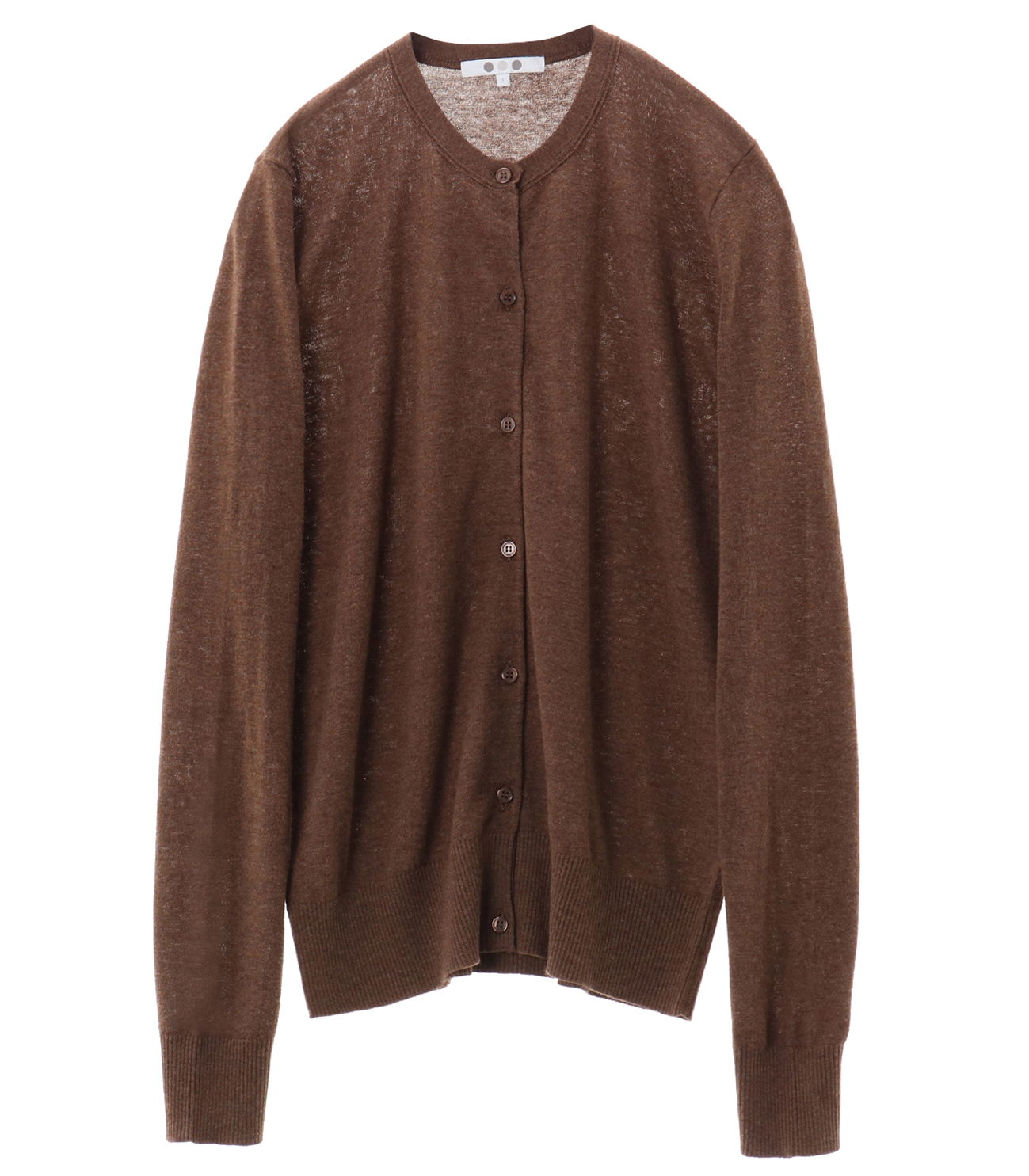 cotton melange cardigan 詳細画像 cocoa nib 1