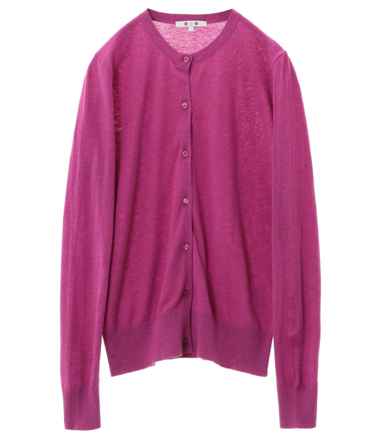 cotton melange cardigan 詳細画像 plum berry 1
