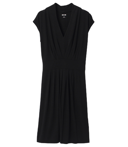 cap slv v dress