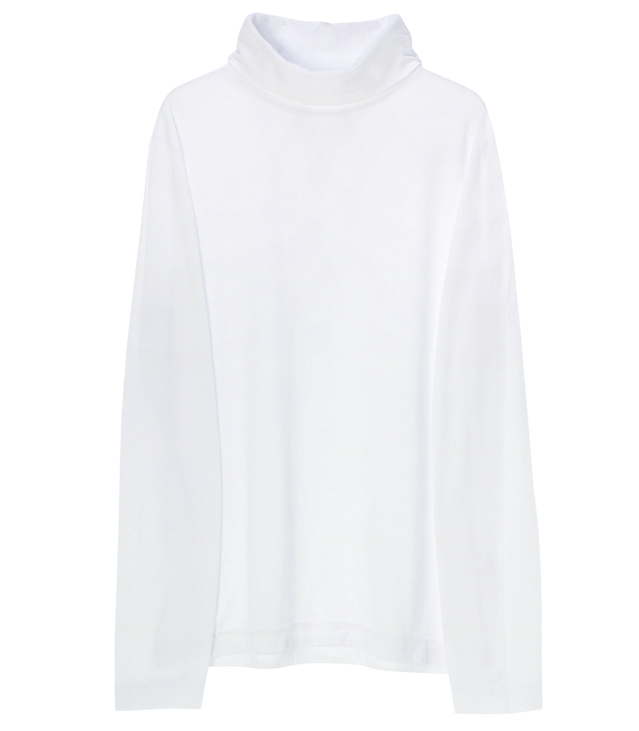 Men's sanded jersey turtleneck 詳細画像 white 1