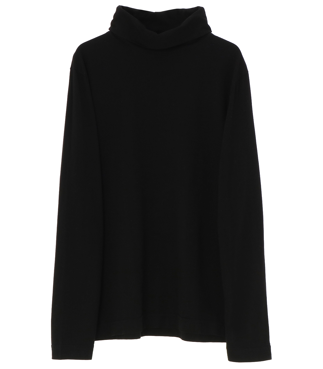 Men's sanded jersey turtleneck 詳細画像 black 1