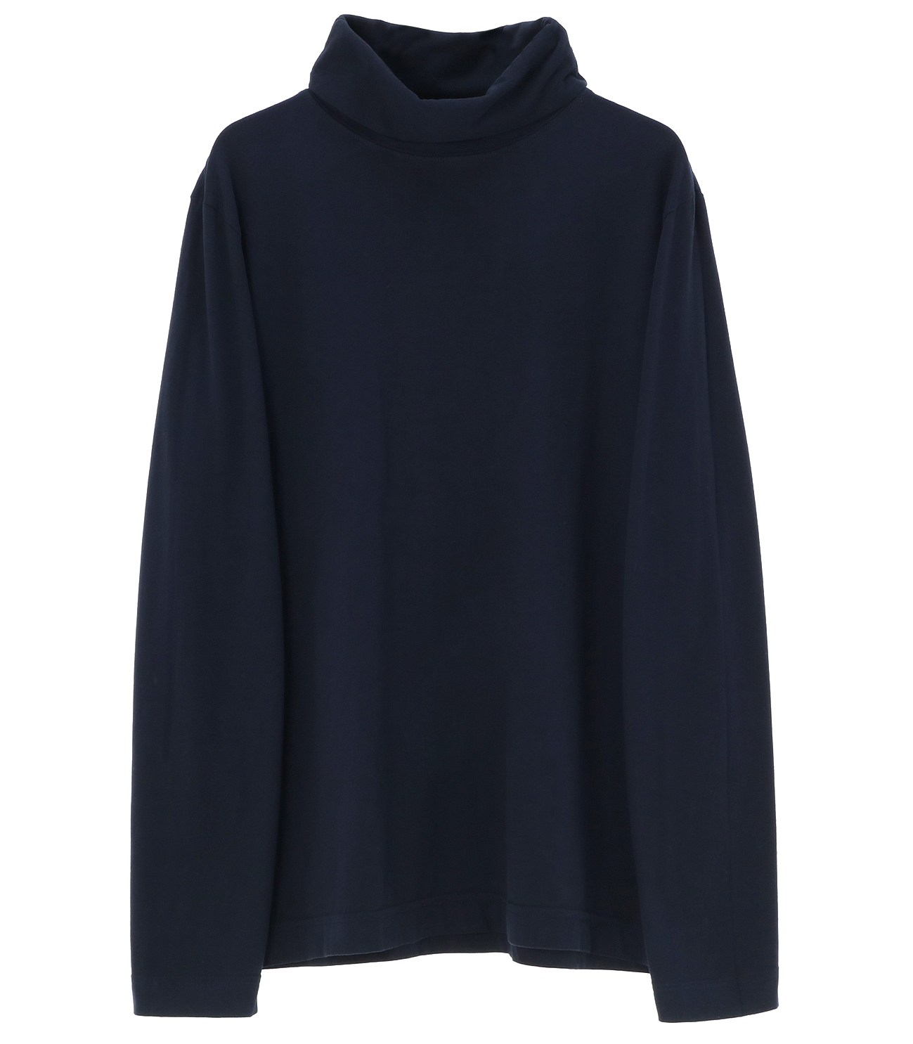 Men's sanded jersey turtleneck 詳細画像 night iris 1