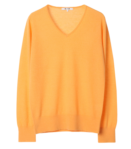 superfine cashmere l/s v neck