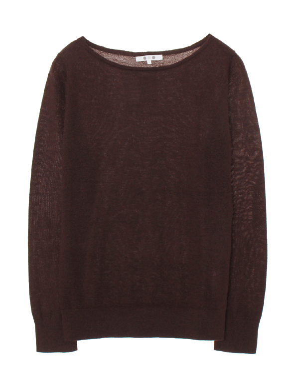 superfine cashmere l/s boat neck
