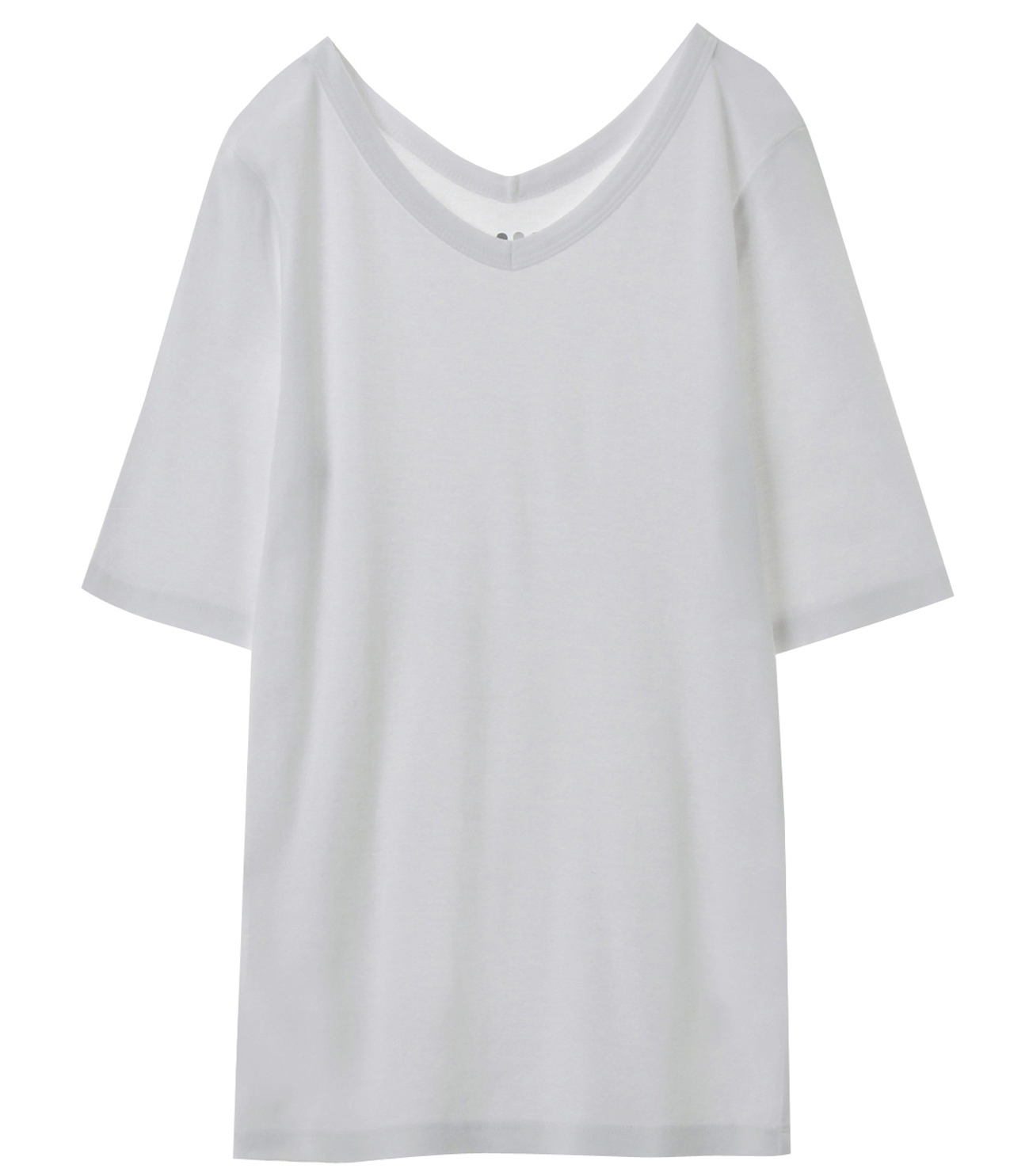 herritage knits double v necktee 詳細画像 white 1