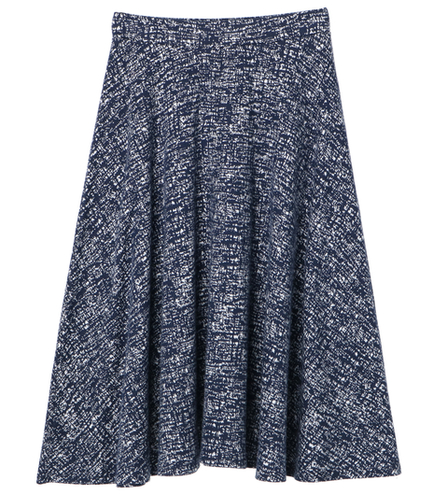 brushed print circler skirt