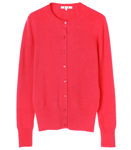 cotton melange smooth l/s cardy