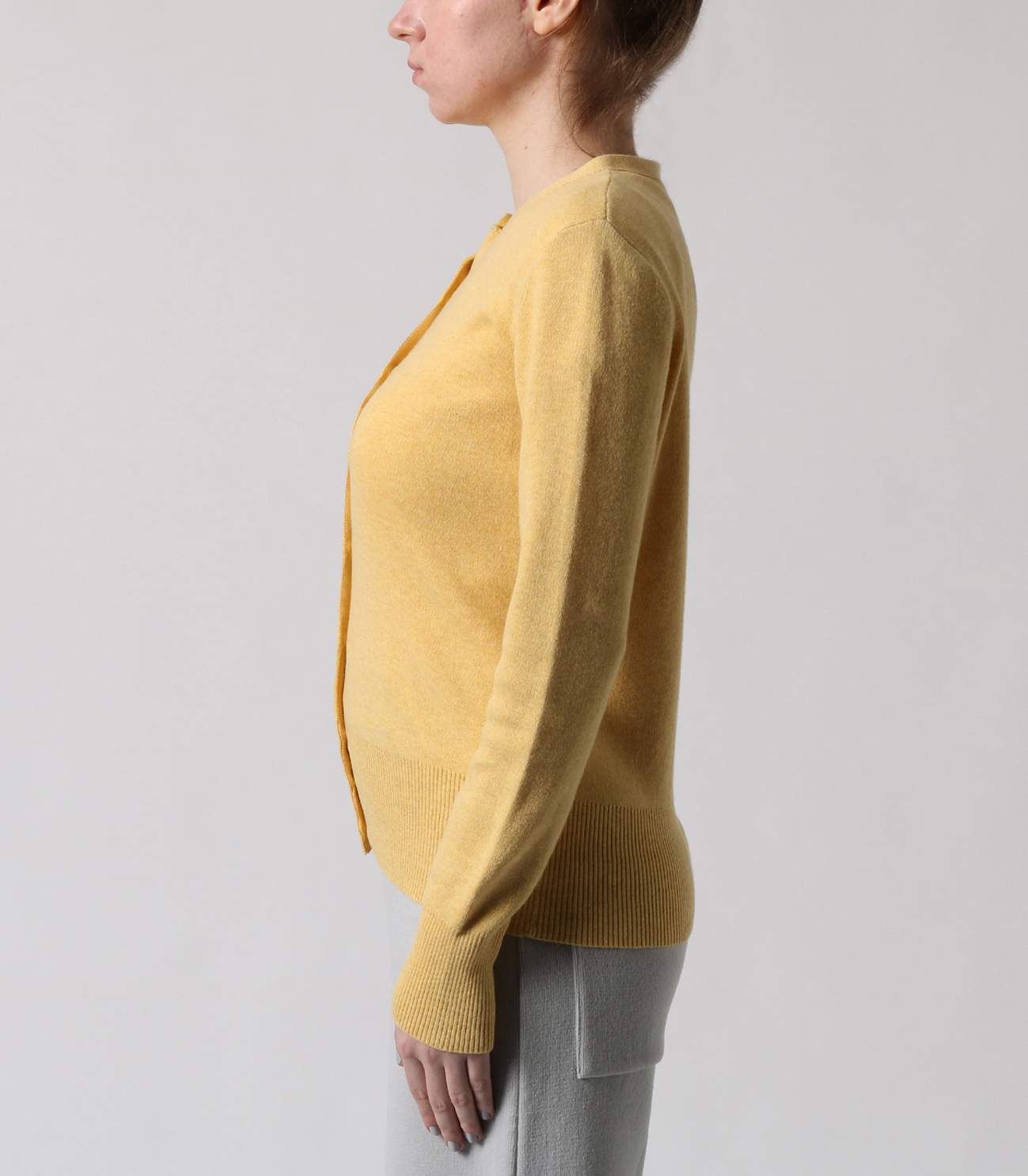 cotton melange smooth l/s cardy 詳細画像 sunny 3