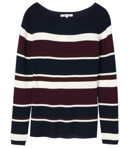 rib sweater l/s boat neck po