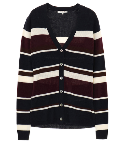 rib sweater l/s v neck cardigan