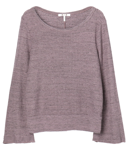 chunky heather thermal top slv