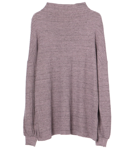 chunky heather thermal bell top