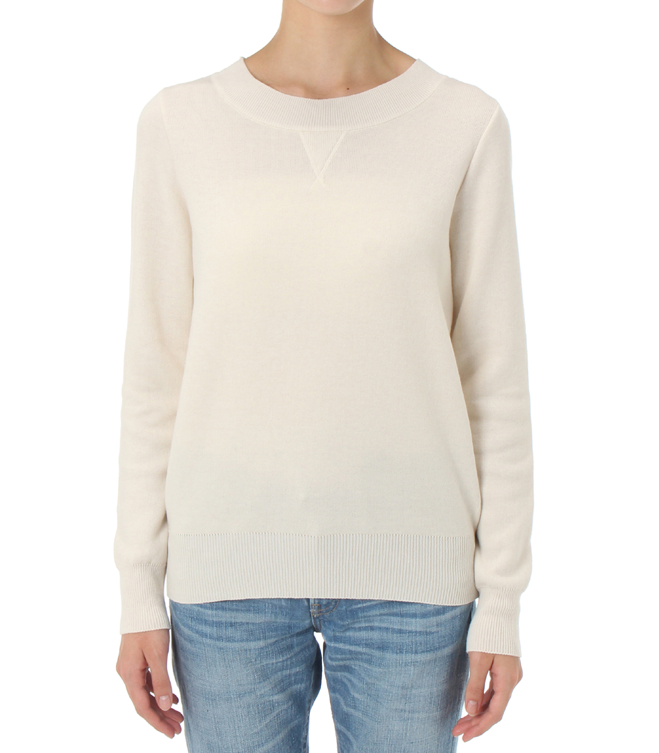 warm cotton l/s crew neck 詳細画像 ivory 2