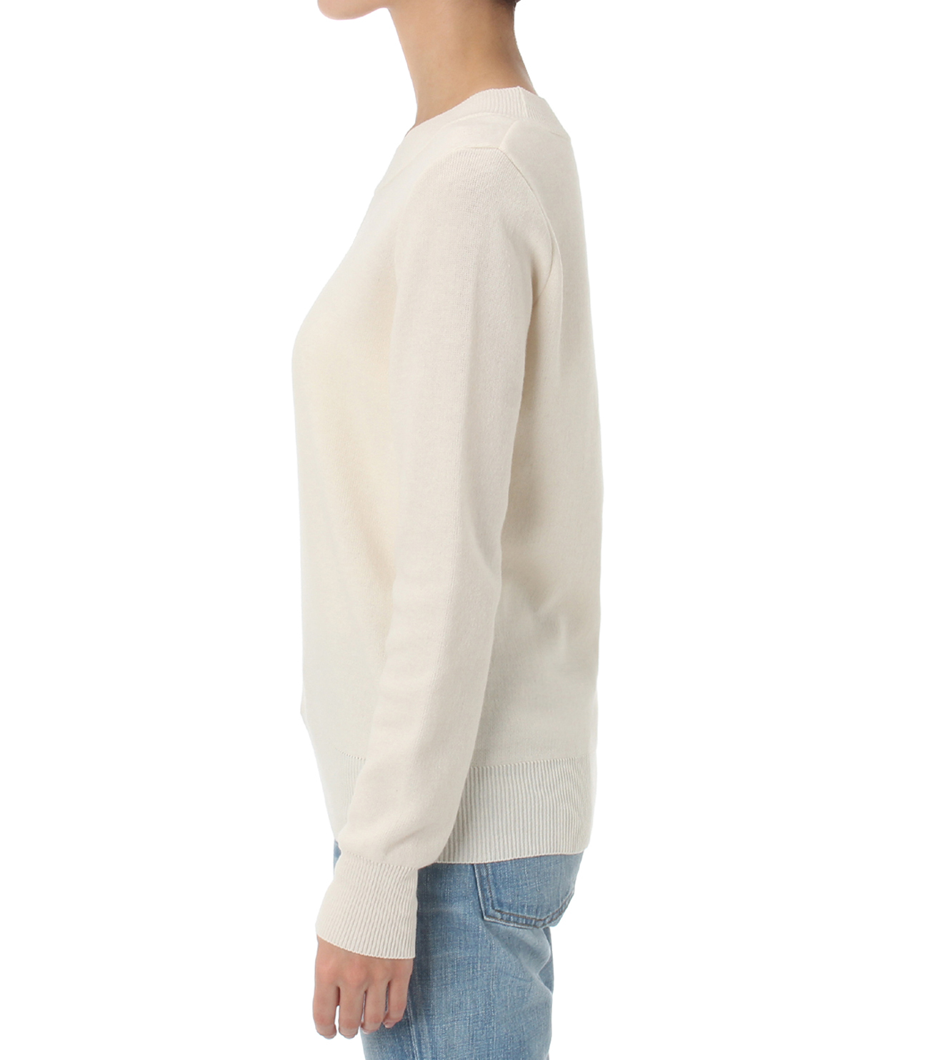 warm cotton l/s crew neck 詳細画像 ivory 3