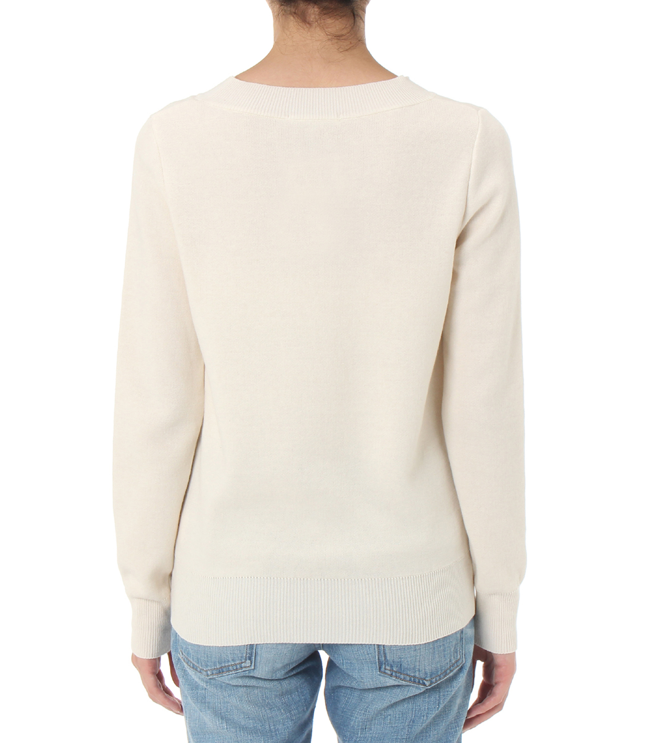 warm cotton l/s crew neck 詳細画像 ivory 4