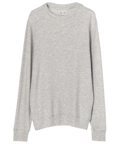 brushed sweater l/s crew