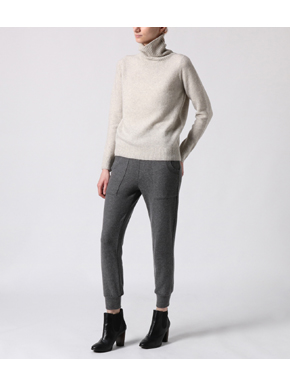 brushed sweater jogger w/pockets 詳細画像