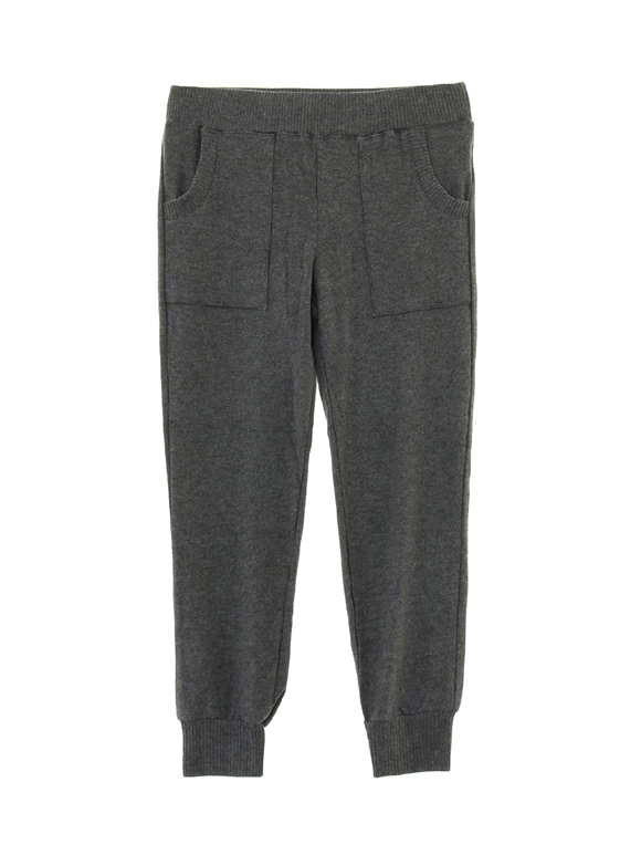 brushed sweater jogger w/pockets