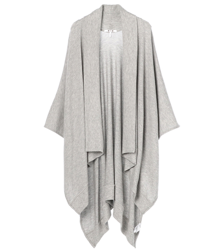 brushed sweather open poncho