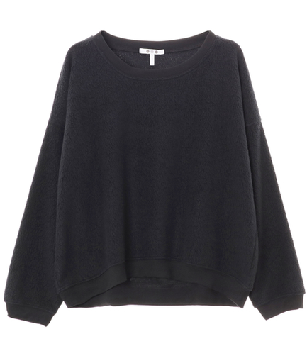 sherpa yarn dye drop sweatshirt
