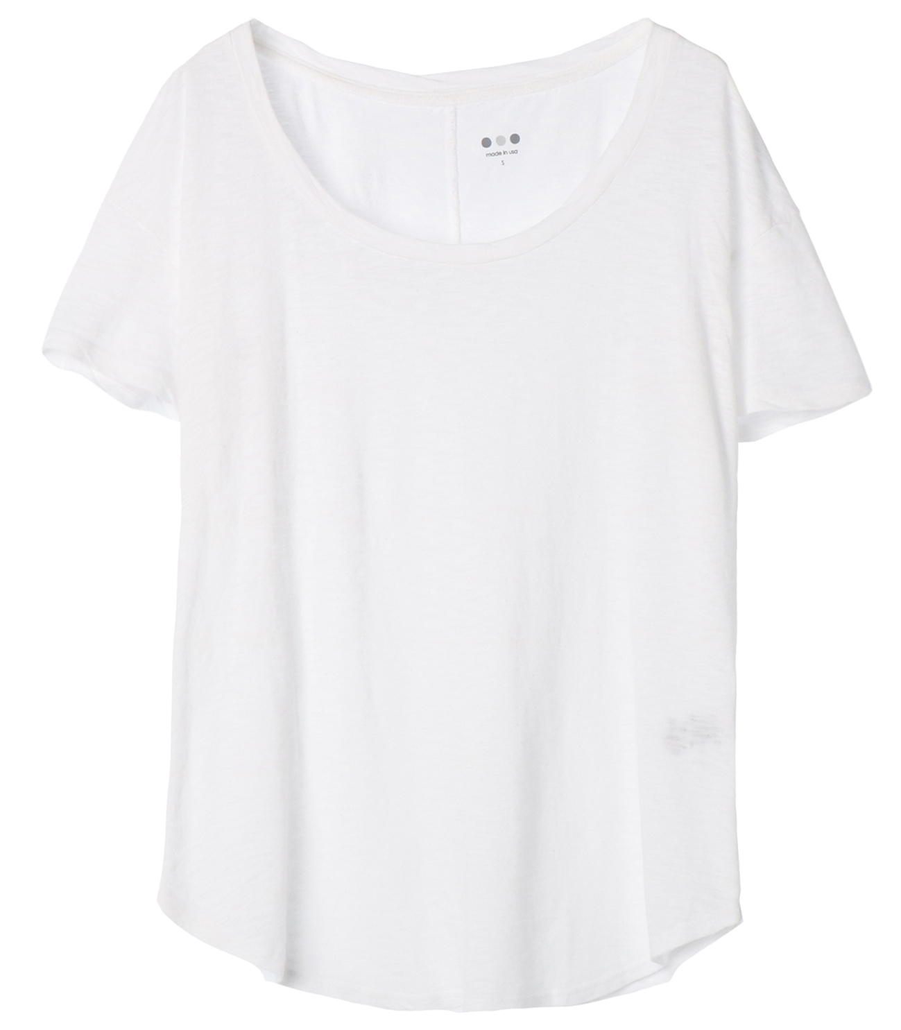 eco knit basic scoop neck tee 詳細画像 white