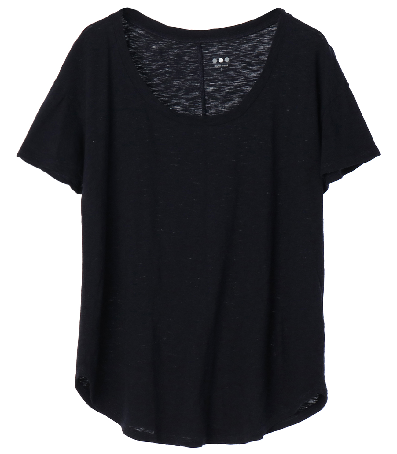 eco knit basic scoop neck tee 詳細画像 night iris 1