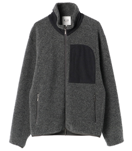 sheep pile zip up jacket