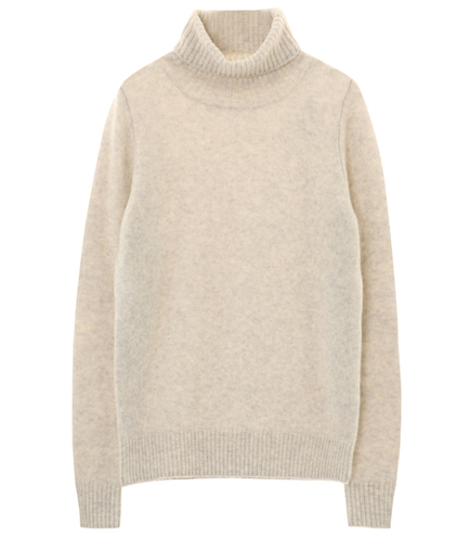 wool yak l/s turtle neck