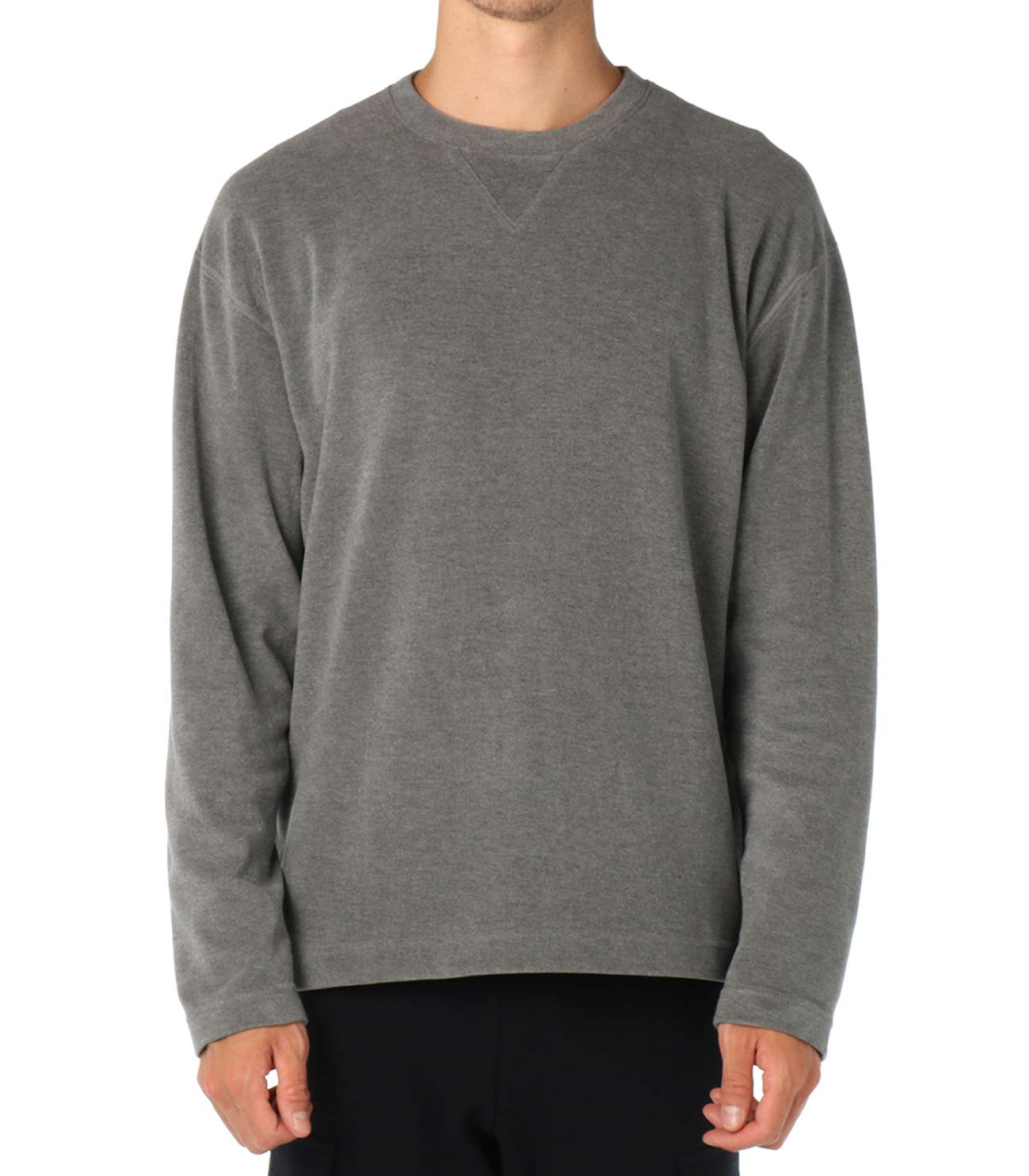 inter lock l/s crewneck po 詳細画像 camel 2