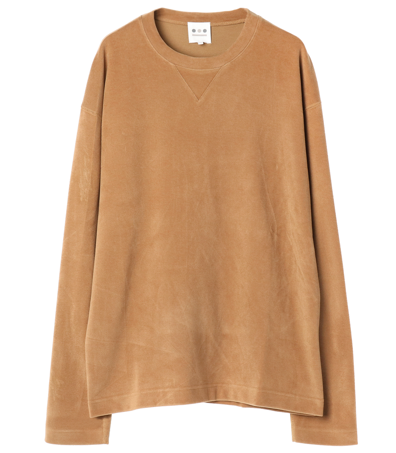 inter lock l/s crewneck po 詳細画像 camel 1