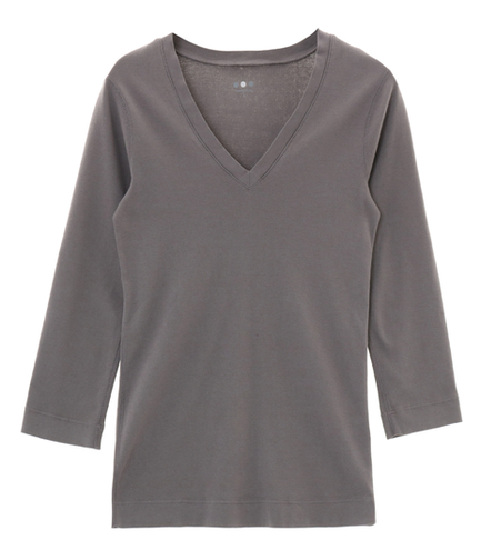 cotton knits 3/4 v-neck nicole