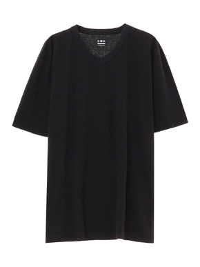 short slv v-neck 詳細画像