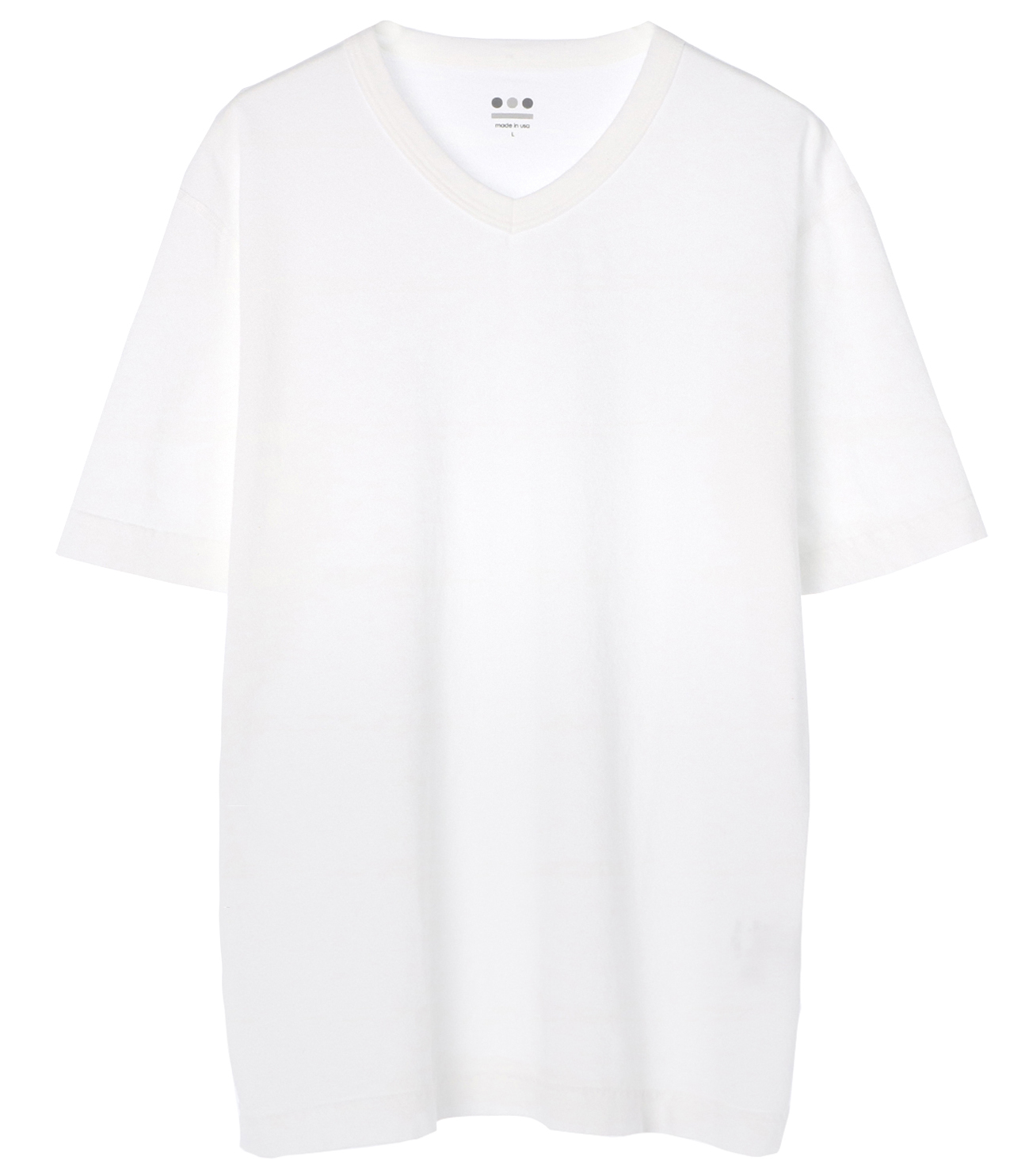 short slv v-neck 詳細画像 white 1