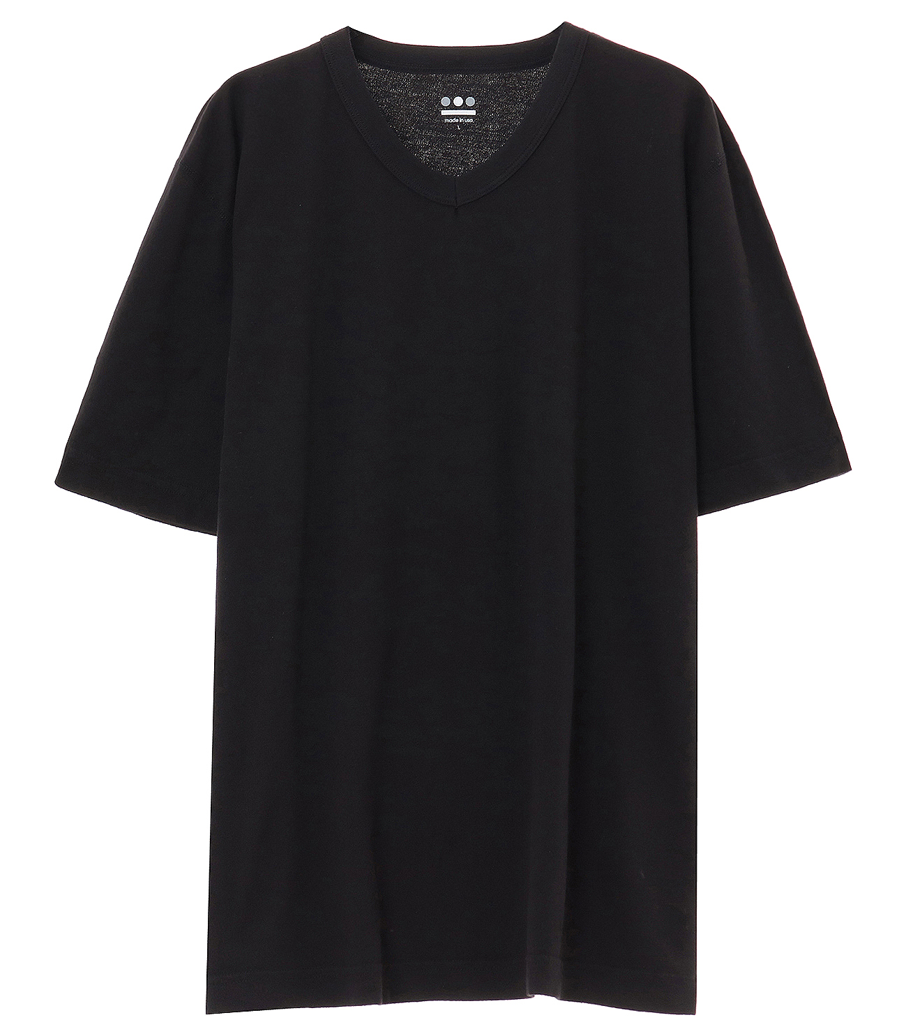 short slv v-neck 詳細画像 black 1