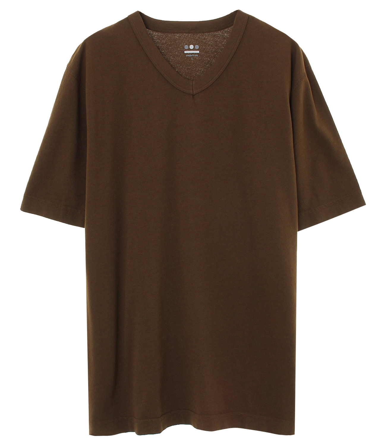 short slv v-neck 詳細画像 olive brunch 1