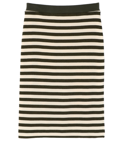thermal stripe border skirt