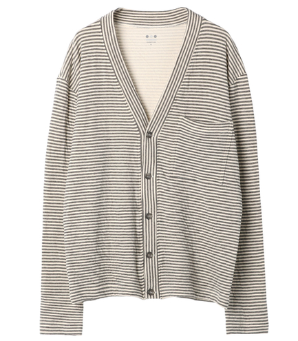 stripe border v cardigan