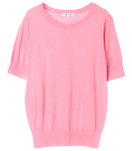 washable silk s/s crew top