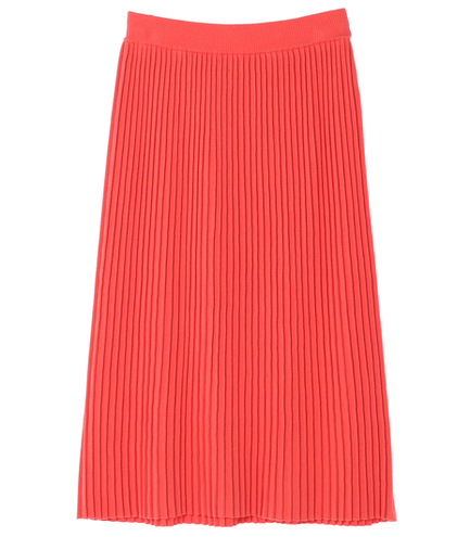 knit bottoms pleated midi skirt