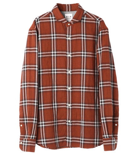 double gauze plaid shirt
