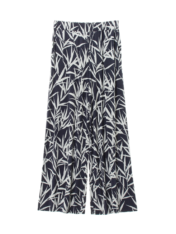 bamboo print wide pant