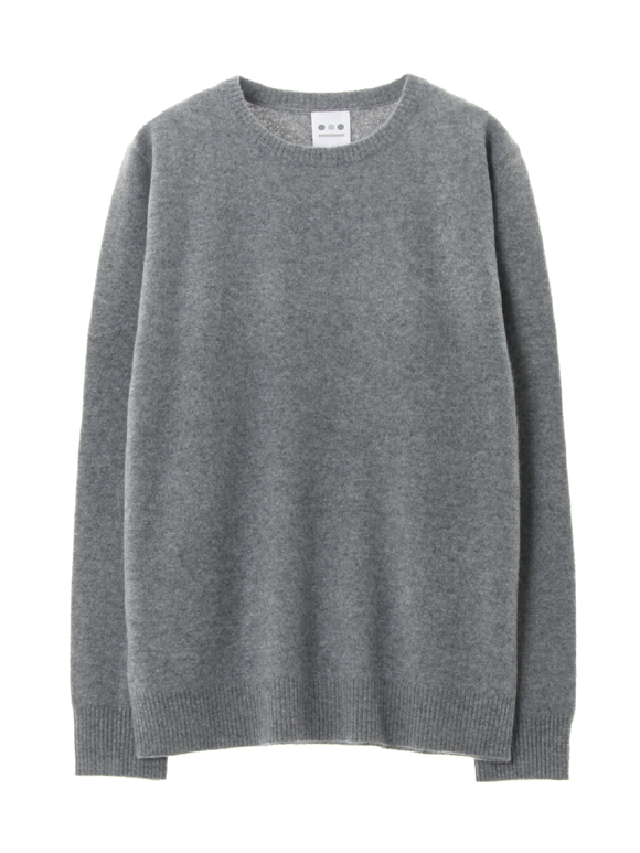 wool boiled crewneck sweat
