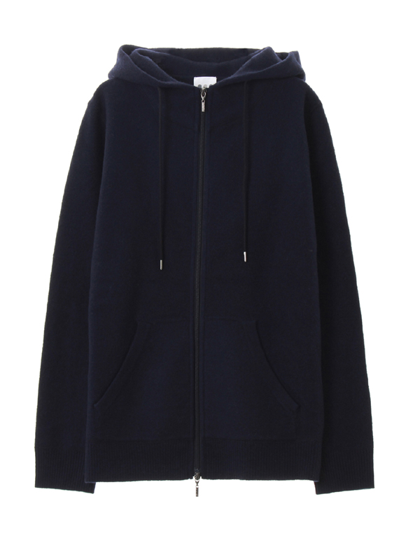 wool boiled zip up parka