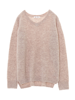 alpaca mixed boucle v neck pull 詳細画像